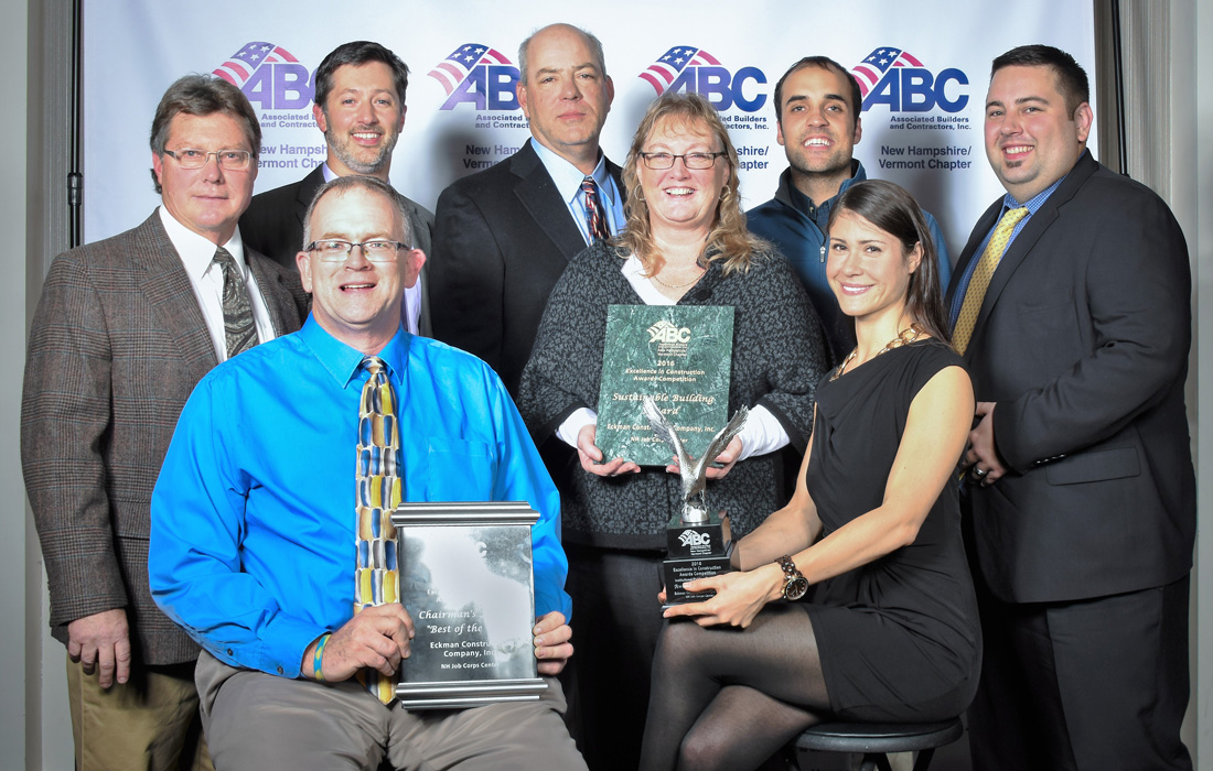Eckman Personnel Pose with ABC Awards