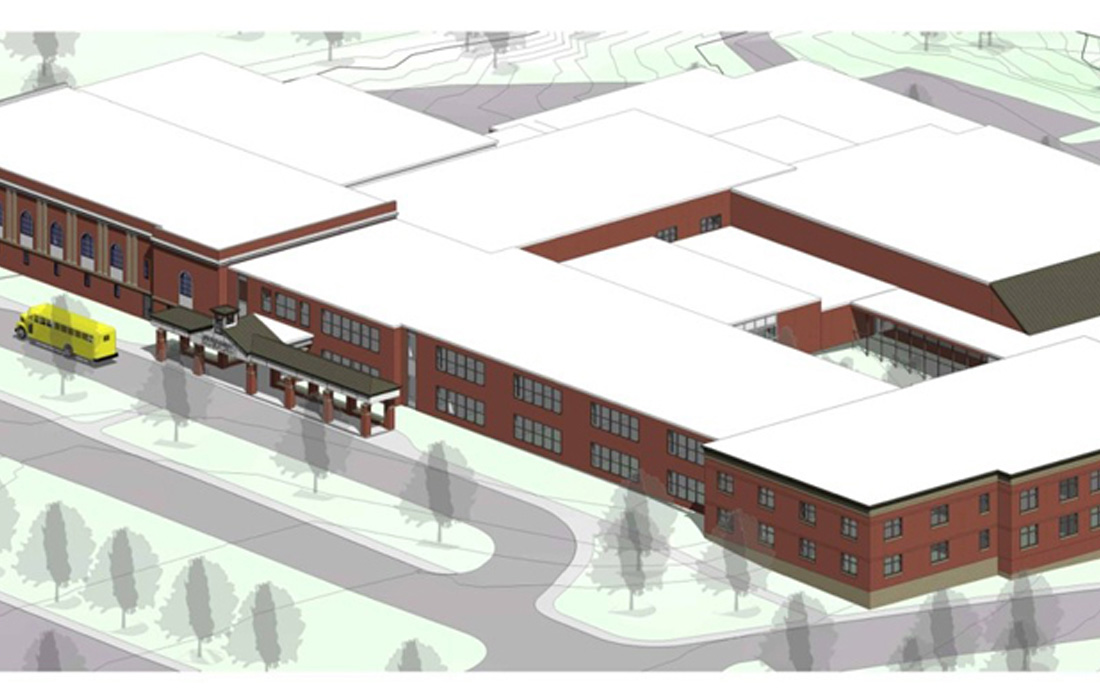 Newmarket Jr./Sr. High School Rendering