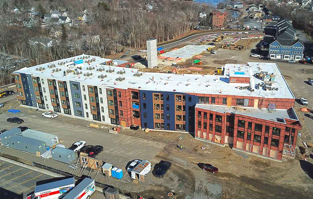Eckman Construction, Bedford, Mixed-Use, Multi-Family, New, Construction, New Hampshire, West End Yards, Portsmouth